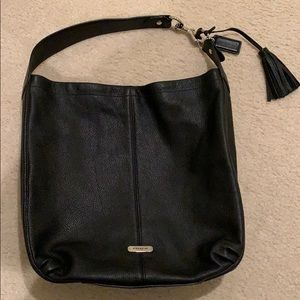 Coach black leather Avery Hobo Bag